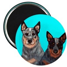 "Australian Cattle Dog Pair 2.25"" Magnet (10 pack)"