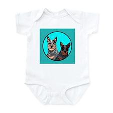 Australian Cattle Dog Pair Infant Bodysuit