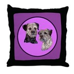 Border Terriers Throw Pillow