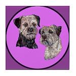 Border Terriers Tile Coaster