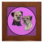Border Terriers Framed Tile