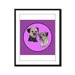 Border Terriers Framed Panel Print