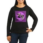 Border Terriers Women's Long Sleeve Dark T-Shirt