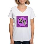 Border Terriers Women's V-Neck T-Shirt