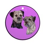 Border Terriers Ornament (Round)