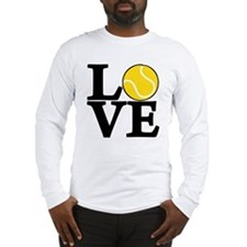 black, Tennis LOVE Long Sleeve T-Shirt