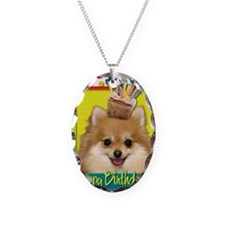 BirthdayCupcakePomeranian Necklace