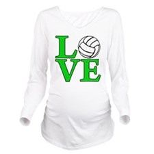 green, Volleyball LO Long Sleeve Maternity T-Shirt