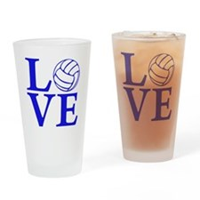 blue2, Volleyball LOVE Drinking Glass