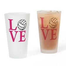 melon2, Volleyball LOVE Drinking Glass
