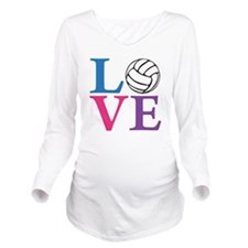 multi2, Volleyball L Long Sleeve Maternity T-Shirt
