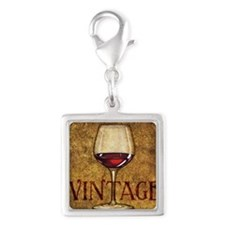 Wine Best Seller Silver Square Charm