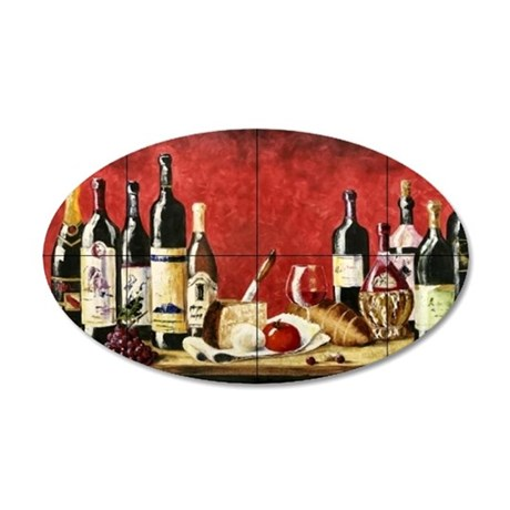 Wine Best Seller 35x21 Oval Wall Decal