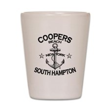 COOPERS BEACH SOUTH HAMPTON NY copy Shot Glass