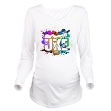 UKE Color Splash Long Sleeve Maternity T-Shirt
