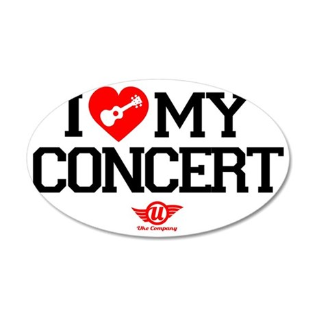 I Love My Concert 35x21 Oval Wall Decal