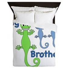 Big Brother of Twin Girls Queen Duvet