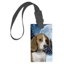 BeagleWinter441_iphone Luggage Tag