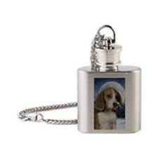 BeagleWinterJournal Flask Necklace