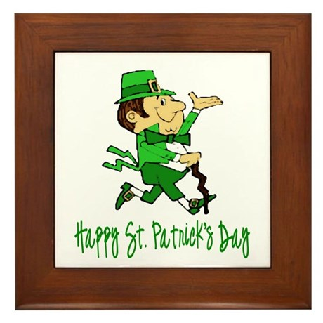 Leprechaun Dandy Framed Tile