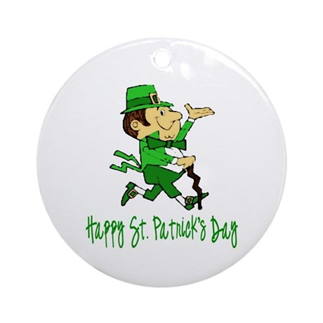 Leprechaun Dandy Ornament (Round)
