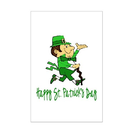 Leprechaun Dandy Mini Poster Print