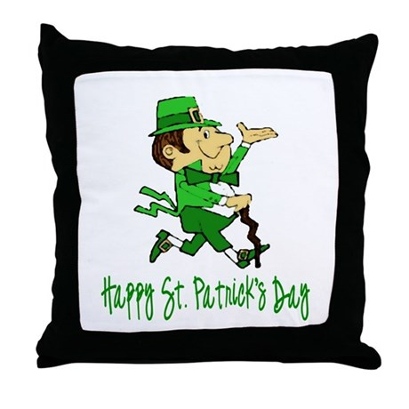 Leprechaun Dandy Throw Pillow