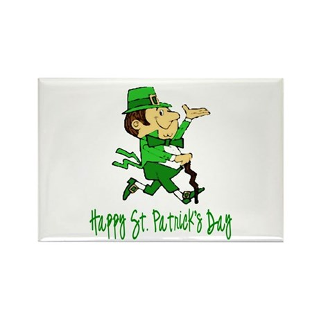 Leprechaun Dandy Rectangle Magnet (100 pack)
