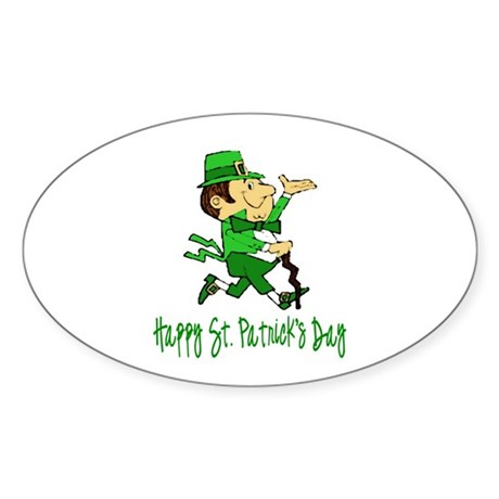 Leprechaun Dandy Oval Sticker