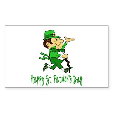Leprechaun Dandy Rectangle Sticker