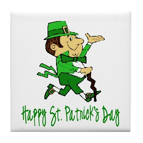 Leprechaun Dandy Tile Coaster