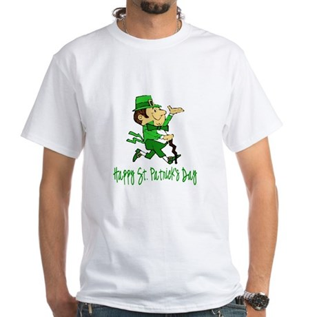 Leprechaun Dandy White T-Shirt