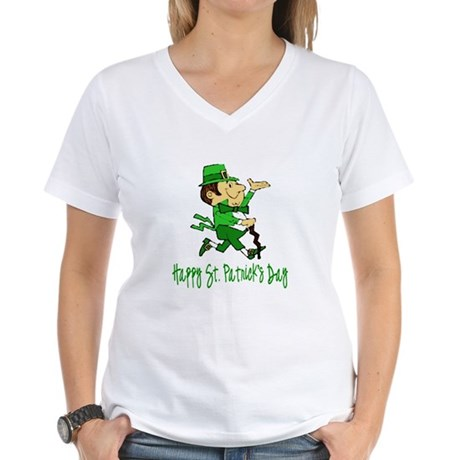 Leprechaun Dandy Women's V-Neck T-Shirt