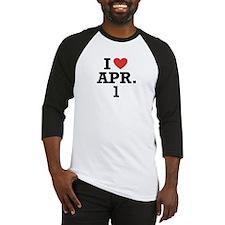 I Heart April 1 Baseball Jersey