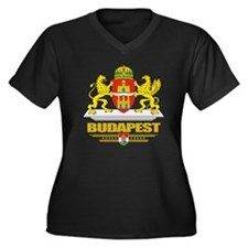 Budapest COA Women's Plus Size Dark V-Neck T-Shirt