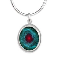 The Eye of God Silver Oval Necklace