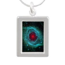 The Eye of God Silver Portrait Necklace