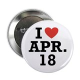 "I Heart April 18 2.25"" Button (10 pack)"