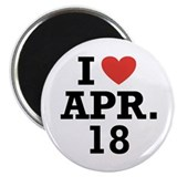 "I Heart April 18 2.25"" Magnet (100 pack)"
