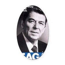 ART Reagan Oval Car Magnet