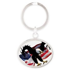 Eagle Dragon - Dont Mess with the US Oval Keychain