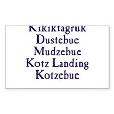 Kikiktagruk Rectangle Decal