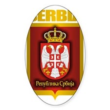 Serbia Gold Decal