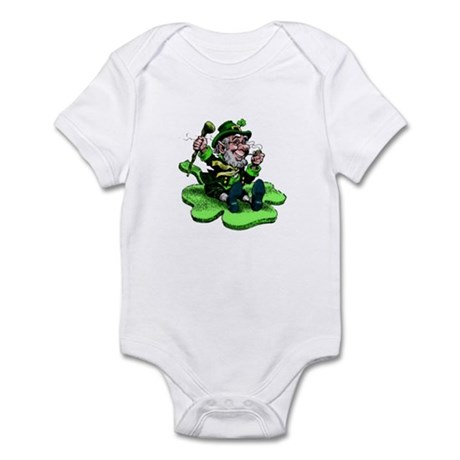 Leprechaun on Shamrock Infant Bodysuit
