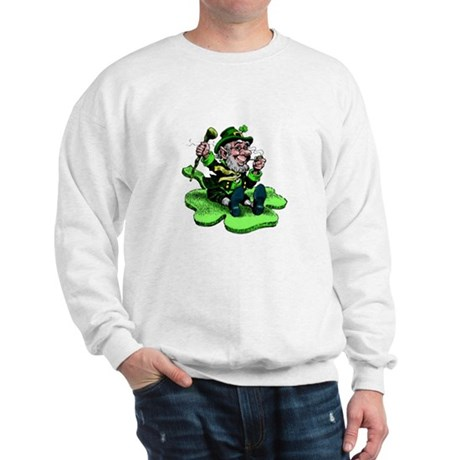 Leprechaun on Shamrock Sweatshirt