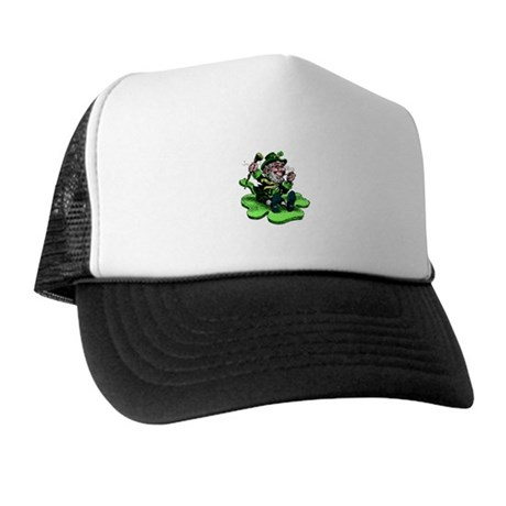 Leprechaun on Shamrock Trucker Hat
