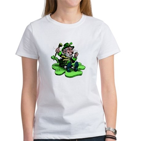 Leprechaun on Shamrock Women's T-Shirt