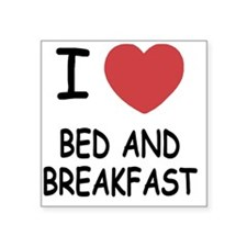 """BED_AND_BREAKFAST Square Sticker 3"""" x 3"""""""