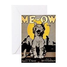 Cats Meow 1920 Greeting Card