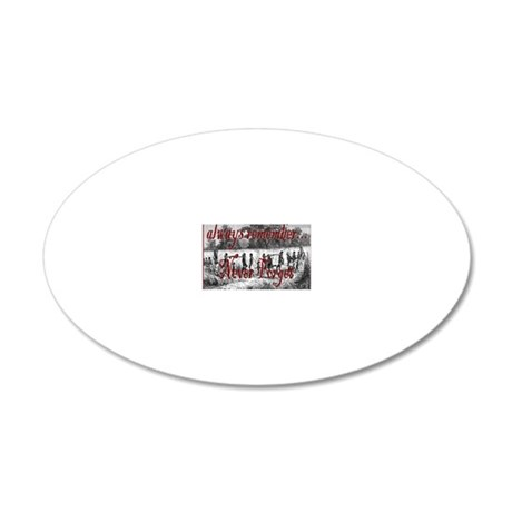 nf line of slaves 20x12 Oval Wall Decal